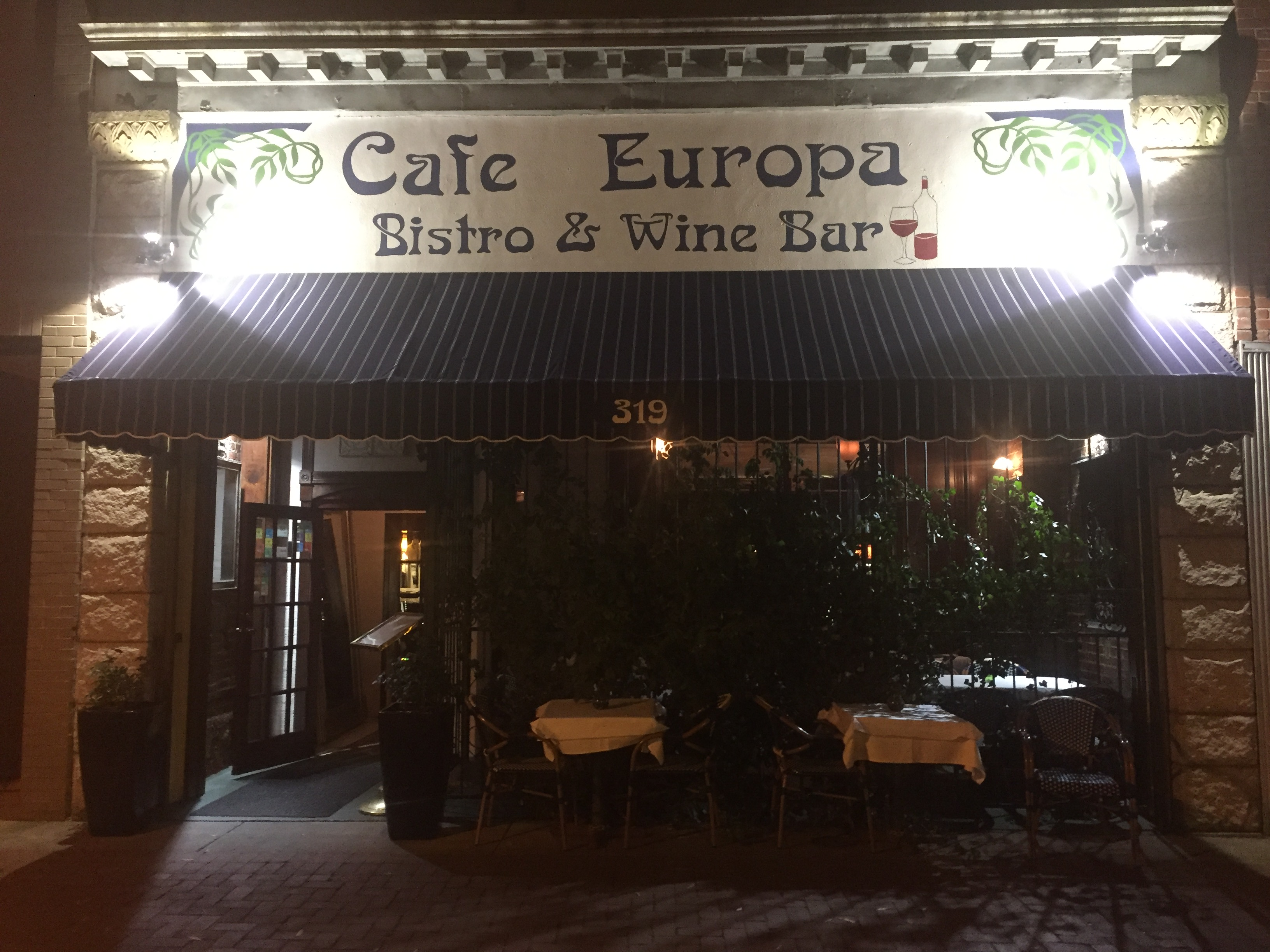 Cafe Europa Th Street Menu